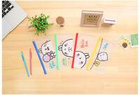 Rabbit Bunny PVC Plastic See Through Cute Pencil Cases Cosmetics Make Up Bags