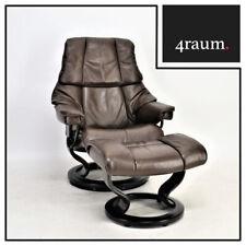 Ekornes Stressless Reno (S) mit Hocker Sessel Relax Leder Fernseh Braun bequem