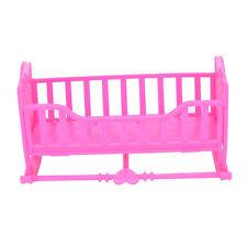Darling Doll Furniture for American Girl Rocking Cradle Bed Pink Best