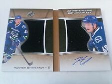 Hunter Shinkaruk 2015-16 Ultimate Collection Rookie Auto Booklet /99 Canucks