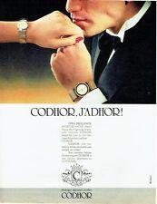 PUBLICITE ADVERTISING 037  1986  les montres Codhor horloger bijoutier joaillier