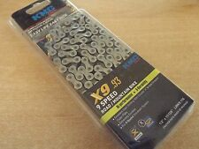 KMC X9-93 Cycle Chain 9 Speed Silver 116 link Sram Shimano Campagnolo BOXED
