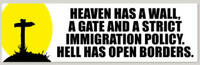 Heaven Has A Wall Maga 2020 Republican Bumper Sticker Cowboy Trump Decal
