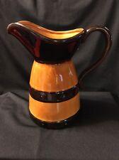 Vintage INARCO Barrel Shape Caramel Dark Brown Color Pitcher Made IN Japan