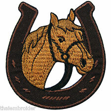 Horse Pony Shoe Cowboy Western Rodeo Racing Stallion Mustang Iron-On Patch #A024