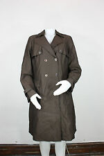 Brooks Brothers Loro Piana wool trench coat jacket 12 new storm system brown