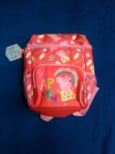 Peppa Pig Girls School Book bag Insulated Backpack Red with Pink trim