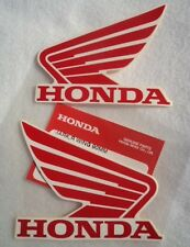 GENUINE HONDA WING FUEL TANK STICKER DECAL STICKERS 95mm RED & WHITE *UK STOCK*