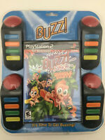 Buzz Junior: Jungle Party Bundle (Sony PlayStation 2, 2007) new sealed ps2