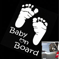 1 X Warning Decal Funny Baby on Board Reflective Material Car Sticker White BDAU