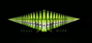 Heineken Bier Beer Leuchtreklame Leuchtwerbung LED Display Beweglich NEU OVP