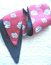 ROCKABILLY RED SKULL DICE REVERSIBLE HAIR HEAD WRAP SCARF   50'S STYLE / PIN UP