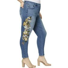 Inc Womens Blue Embroidered Slim Fit SKINNY Jeans Plus 18w BHFO 5974
