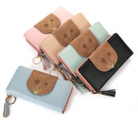 Women Clutch Leather Wallet Long Card Holder Phone Bag Case Purse Handbags S