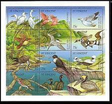 St. Vincent WWF Masked Booby Accompanying Sheetlet of 3 sets Birds MNH