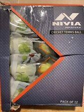 Nivia Cricket Tennis Ball H/W Yellow Pack Of 12