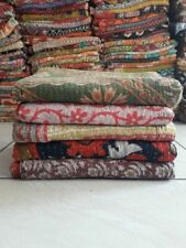 5 Pics Wholesale Indian Handmade Quilt Vintage Kantha Bedspread Throw Cotton