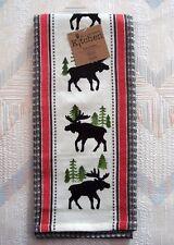 Moose Waffle Tea Towel Simple Living Moose Pattern Kay Dee