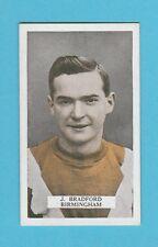FOOTBALL  -  B.A.T.  -  SCARCE FOOTBALLER CARD - BRADFORD OF BIRMINGHAM - 1923