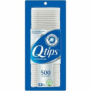 Q-tips Cotton Swabs 500 ct pack of 4