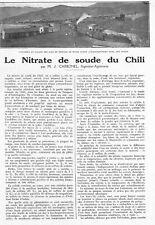 AGRICULTURE / LE NITRATE DE SOUDE DU CHILI CHILE / J. CARBONNEL 1928