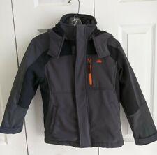 Boys Snozu Softshell 3-in-1 Winter Jacket Gray and Black Size 8