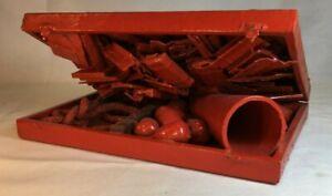 VTG 1968 May Wilson Junk Assemblage Outsider Folk Art Sculpture Red Box