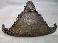 Inde ,amulette talisman ou plaque a musique décors d'éléphants ,bronze ancien
