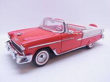 Lot 38966 Franklin Mint 1:24 CHEVROLET BELAIR 1955 cenvertible Cabrio come nuovo