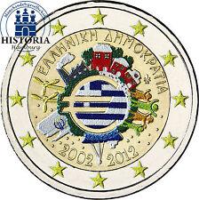 Griechenland 2 Euro Gedenkmünze 2012 bfr. 10 Jahre Euro Bargeld in Farbe
