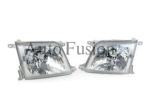 Headlights Pair For Toyota Prado Jz95 1999-2003