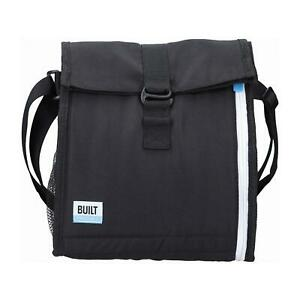 Built Freezable Lunch Picnic Bag With Removable Ice Gel Packs Black/White