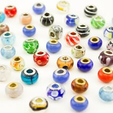 50X Assorted Glass European Mix Beads(5mm) Fit for  Bracelets Findings
