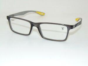 Ray Ban Scuderia Ferrari RB 8901M F636 Grey Carbon Fiber 55mm Eyeglasses