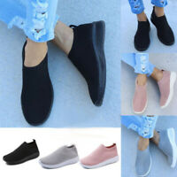 Women Slip On Breathable Sneakers Trainers Sport Gym Running Pumps Sock Shoes