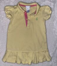 Polo Ralph Lauren Baby Girl Short Sleeve Dress (Yellow) - Size 9M