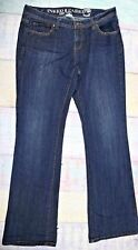 Inked And Faded Denim Curvy Flare Jeans Size 10 Regular Womens   D-77