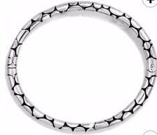 Brighton PEBBLE Slim Silver magnetic hinged BANGLE Stackable BRACELET NWT ☀️☀️☀️