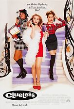 CLUELESS (1995) ORIGINAL MOVIE POSTER  -  ROLLED  -  DOUBLE-SIDED