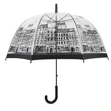 British Style Automatic Open Umbrella Transparent Mushroom Umbrella