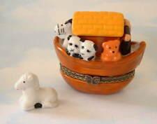 New  Biblical Noahs Ark w/ Animals & Horse trinket Porcelain Hinged Trinket Box