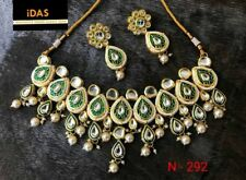 Indian Traditional Bollywood Kundan Design Women Choker Necklace Jewelry Sets