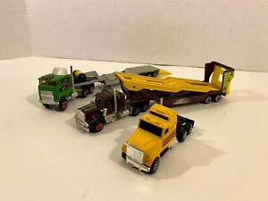 Majorette Semi Tractor Trailer Lot of 3 - Flat Bed, Car Carrier Super Movers