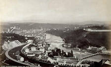OLD LARGE PHOTO Panorama Of The City Of Schaffhausen In Germany