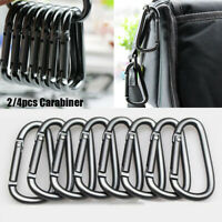 Alloy Equipment Climbing Button Buckle Keychain Camping Hiking Hook Carabiner