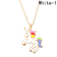Unicorn pendant necklace multi kids girls costume Christmas gift jewellery party