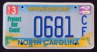 """NORTH CAROLINA """" PROTECT OUR COAST - BEACH """" NC Specialty License Plate"""