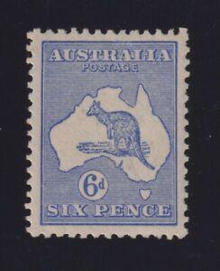 Australia Sc #48 (1915-24) 6d ultramarine Kangaroo Die II Mint VF LH
