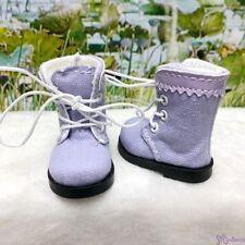 Mimiwoo Yo SD 1/6 BJD Doll Shoes Cloth Boots Purple (for Foot 4.5cm long)