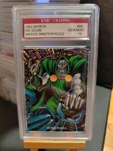 DR DOOM 1992 Marvel Masterpieces Card #5 Joe Jusko Art EMC GRADED 10